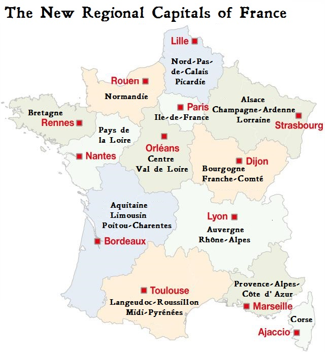 New Regional Capitals For France Tootlafrance
