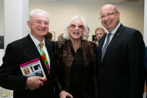 Patrick (l) with artist Anne Madden and Jean-Pierre Thébault