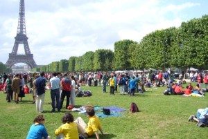 Mega-fan-zone: The Champs de Mars fan zone will be able to accommodate 120,000 fans to watch Ireland stuff the Swedes.