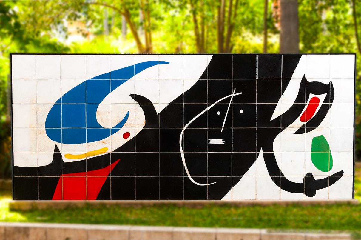Fresque de Miro à la gare de Soller-Majorque