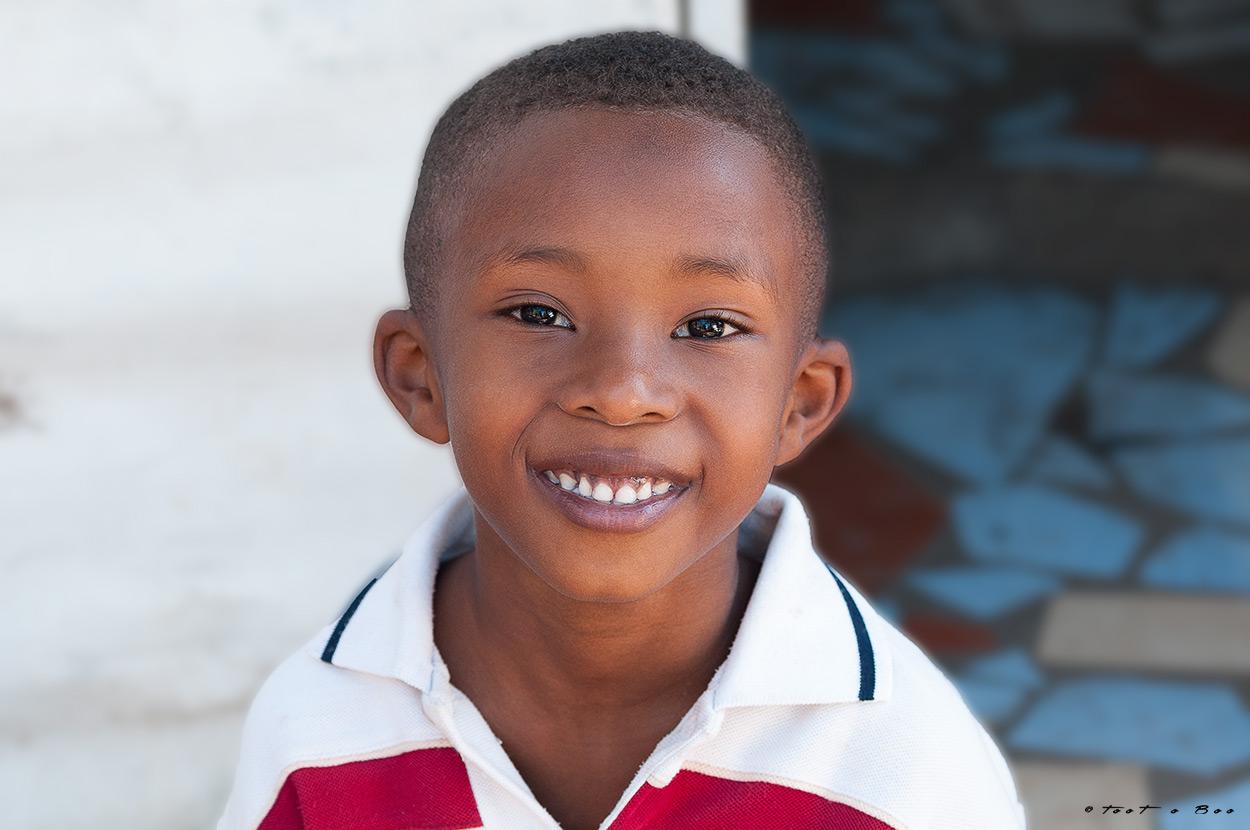 Sourir d'un Jeune Mahorais-Mayotte