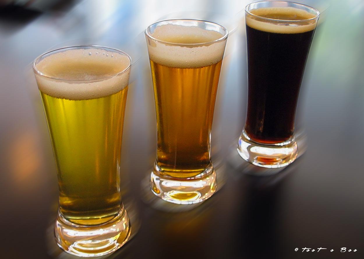 Les troix différentes Bières