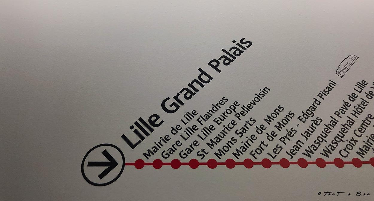 Station de métro de Lille Grand Palais ou se trouvait le Wat 19