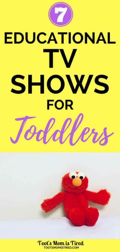 7 Educational TV Shows for Toddlers | one year olds, two year olds, three year olds, preschoolers, preschool, netflix, hulu, amazon prime, disney junior, elmo, sesame street, daniel tiger's neighborhood, screen time, educational screen time, #toddlers #toddler #educational #tvshows #preschool