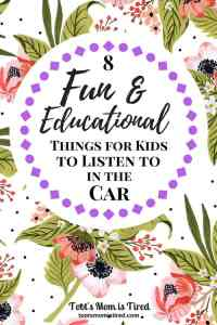 8 Fun and Educational Things for Kids to Listen to in the Car | Road trips, babies, toddlers, educational music for toddlers, podcasts for kids, podcasts for babies and toddlers, audiobooks for toddlers, motherhood, parenting, mom hacks, minivan