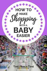 9 Mom Hacks to Make Shopping With a Baby Easier | Guide to shopping with a baby for new moms, new baby tips, how to shop with a baby, month old, how to take your baby to the store, shopping cart car seat, #baby #newborn #newmom #motherhood #parenting