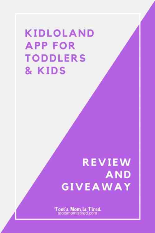 KidloLand App Review and Giveaway | KidloLand is a fun little app for babies, toddlers, and preschoolers. Here is our review of the app plus a giveaway for free subscriptions!