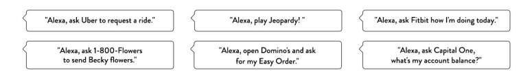 Phrases you can ask Alexa