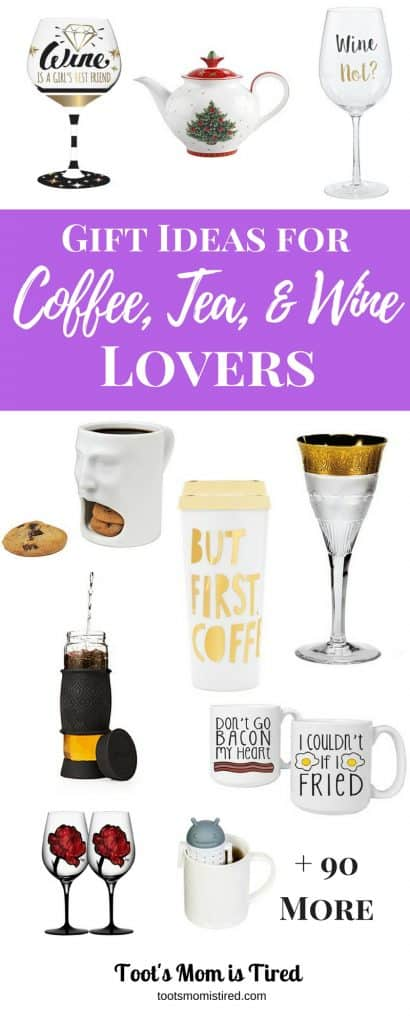 Gift Ideas for Coffee, Tea, and Wine Lovers   great gift ideas for hard to buy for people because odds are they either like coffee, tea, or wine