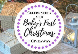 Celebrating Your Baby's First Christmas + Giveaway