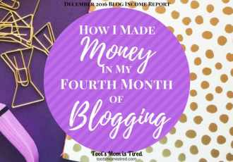 How I Made Money in My Fourth Month of Blogging