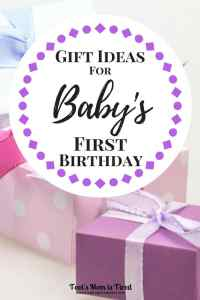 Gift Ideas for Baby's First Birthday | What do you get a one year old for their first birthday? Here are some great gift ideas for new toddlers!