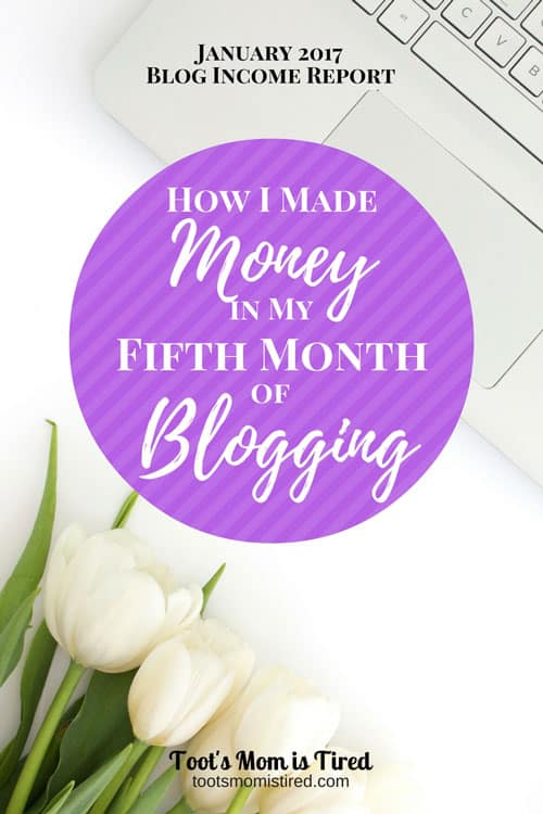 How I Made Money in My Fifth Month of Blogging | January 2017 Blog Income Report | Blogging tips, monetization, blog traffic stats for 5th month of blogging