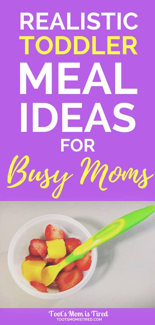 Realistic Toddler Meal Ideas for Busy Moms | easy toddler meals, quick fast lunch dinner for one year olds, two year olds, three year olds, 18 months old, picky eaters, motherhood, parenting, not fancy, regular meals #toddlers #parenting #mealideas