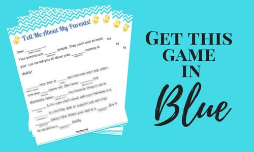 Baby Shower Game Blue