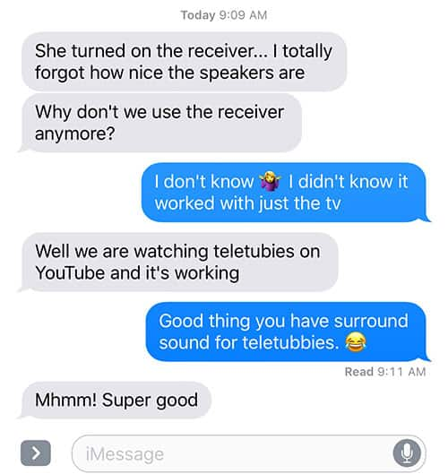 Texting your spouse