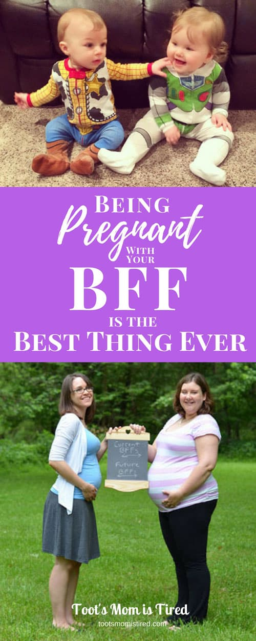 Being Pregnant with Your BFF is the Best Thing Ever | synchronized pregnancies, pregnant at the same time as your bff, best friend, sister, motherhood, pregnancy, mom life, mom lifestyle, #momlife, lifelong friendship
