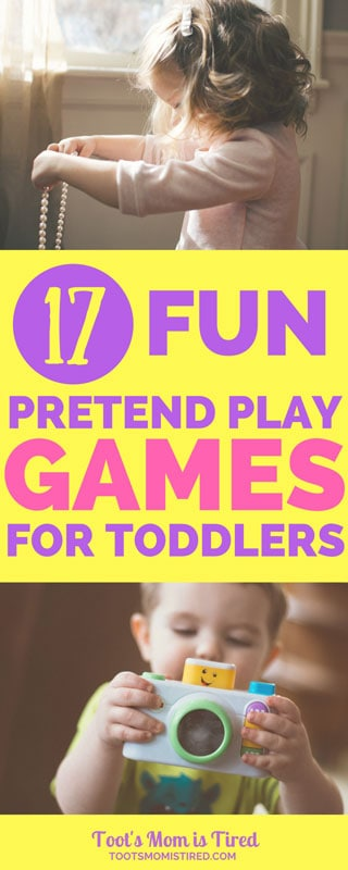 17 Fun Pretend Play Games and Activities for Toddlers   pretending games for toddlers, how toddlers pretend, learn how to pretend, winter spring summer fall activities for toddlers, games for toddlers, one year old, two years old, three years old, 18 month old, parenting, motherhood, mom life, #toddlers #pretendplay #toddleractivities