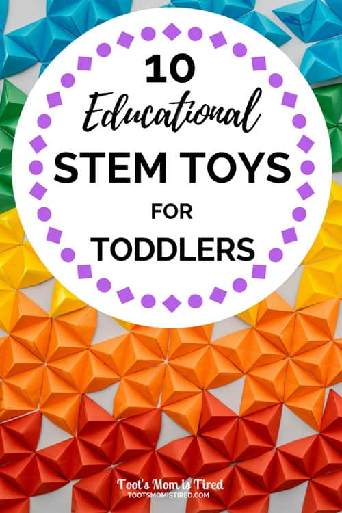 10 Educational STEM Toys for Toddlers | science technology engineering mathematics, STEAM toys for toddlers, the best STEM toys for two year olds, one year olds, three year olds, rainbow toys, gift ideas for toddlers #toddlertoys #STEM #STEMtoys #ToddlerSTEM