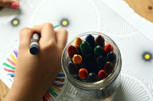 Toddler coloring placemats screen-free activity