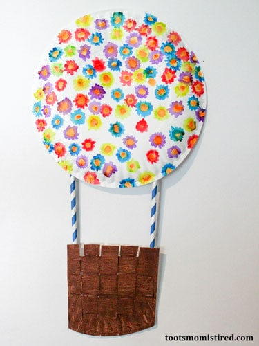 hot air balloon craft for toddlers and preschoolers
