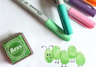 Thumbprint Bugs Craft for Toddlers
