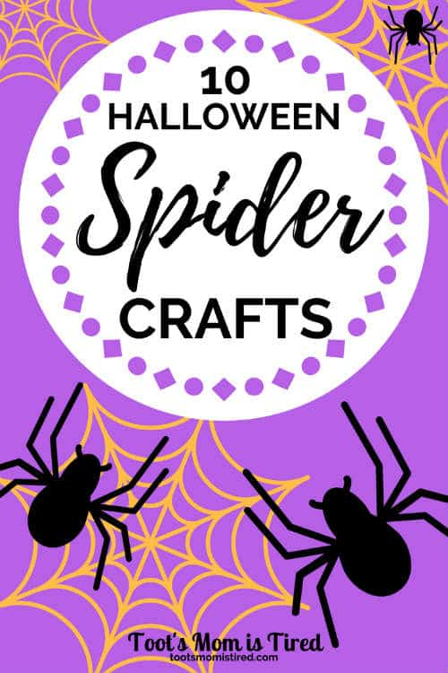 10 Halloween Spider Crafts for Toddlers and Preschoolers