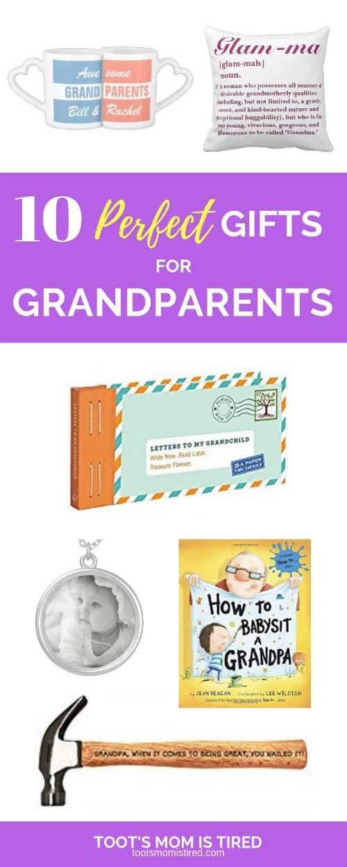 Great christmas gifts for grandma and grandpa