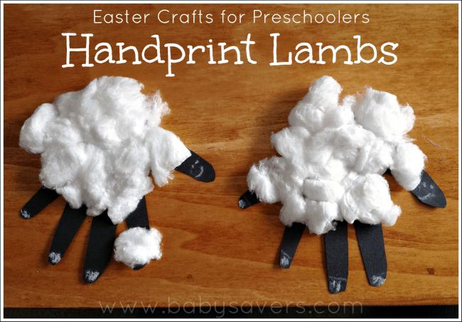 Easy Handprint Lambs
