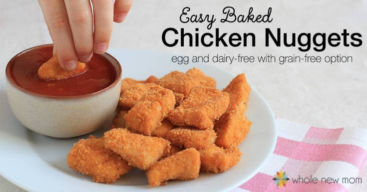 Easy Baked Homemade Chicken Nuggets