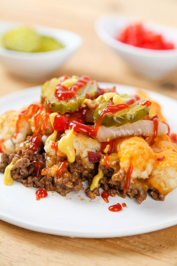 Easy Cheeseburger Tater Tot Casserole