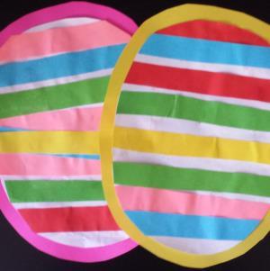 Striped Easter Egg Craft