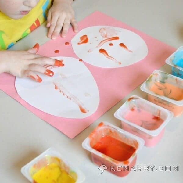 Easter Egg Finger Painting Craft