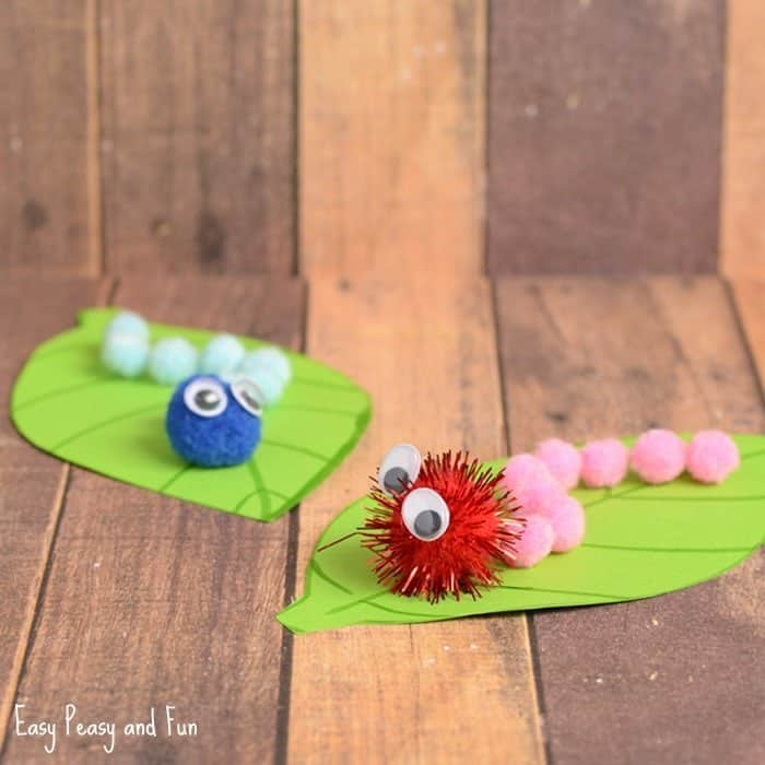 Caterpillar Pom Pom Craft