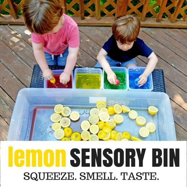 Bright and Sour Sensory Bin