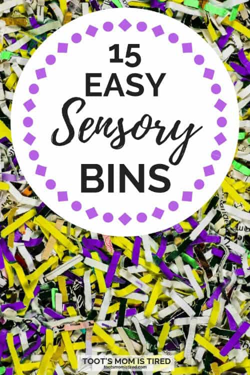 easy sensory bins for toddlers and preschoolers