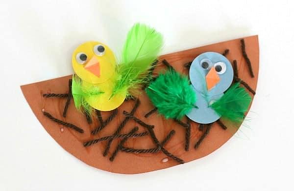 Nest and Baby Bird Craft