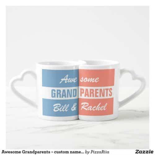 Custom Couples Mugs for Grandma and Grandpa