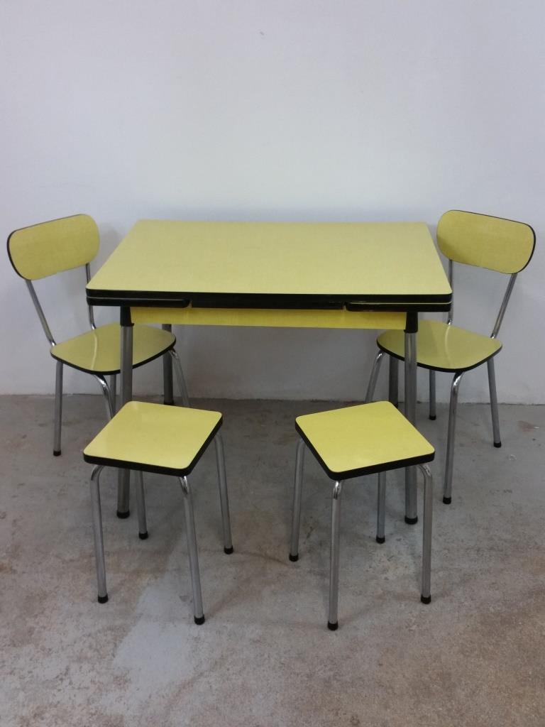 formica jaune chaise tabouret vintage