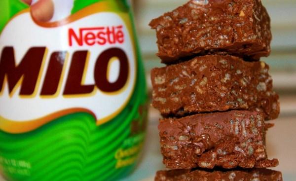 Chocolate Milo Rice Krispie Treats