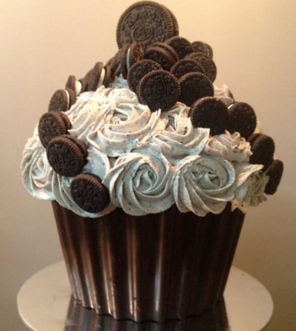 Oreo Giant Chocolate Cupcake