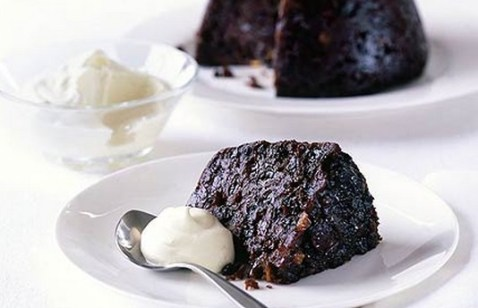 Guinness pudding with Whisky cream