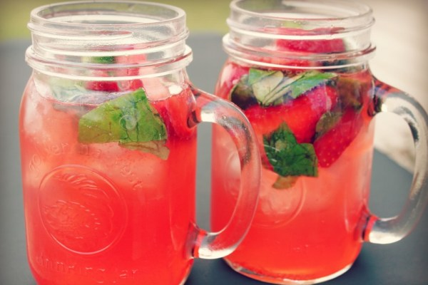 Strawberry, Lime & Basil Summer Punch