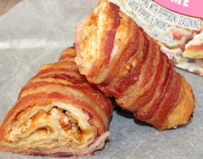 Bacon Wrapped Pizza Burrito
