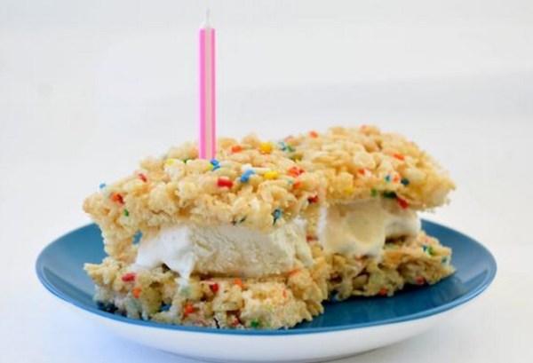 Rice Krispie Ice Cream Sandwiches