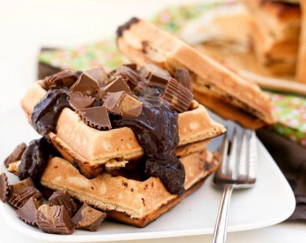 Peanut Butter And Chocolate Waffles