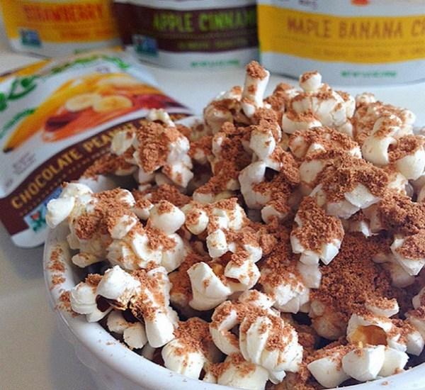 Peanut Butter, Banana And Chocolate Popcorn