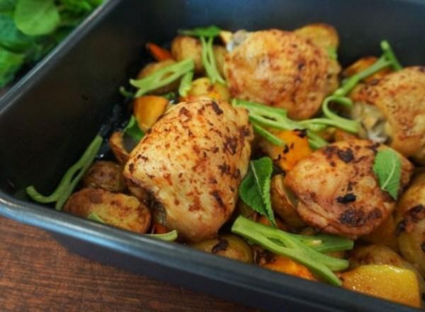 Pimm's Chicken Traybake