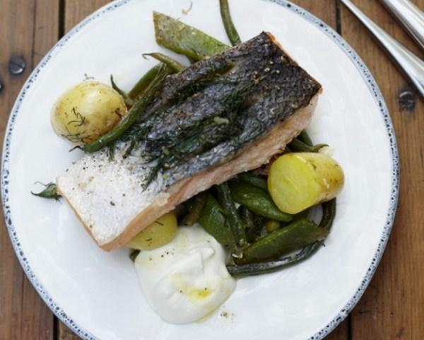 Summer Tray-baked Salmon