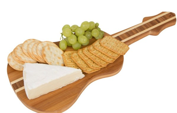 Guitar Shaped Bamboo Chopping Board